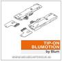 Blum-TIP-ON-BLUMOTION-eenheid-incl.-meenemers-voor-Tandembox-Antaro